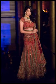 Follow Bharaty Jayaram for more attractive Wedding Pins!  Actor and model, Deeksha Seth opened the show looking stunning in a signature JJ Valaya ensemble at the India Bridal Fashion Week 2014! #BMWIBFW