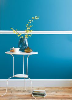 Marine Blue - Blue Paint Colours - Shop by Colour - Paint - little greene hallway Blue Rooms, Blue Bedroom, Blue Walls, Paris Bedroom, Dining Room Walls, Living Room Paint, Blue Home Offices, Little Greene Paint Company, Room Wall Colors
