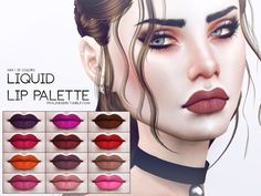 Sims 4 CC's - The Best: Liquid Lip Palette by Pralinesims