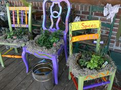 HERB GARDEN CHAIRS BY ARTIQUE ALLEY By ARTIQUE ALLEY, Via Flickr
