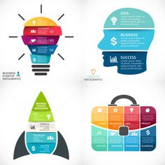 Business Project Infographics — Photoshop PSD #graph #bulb • Available here → https://graphicriver.net/item/business-project-infographics/12114110?ref=pxcr