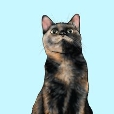 背景水色バージョン Cats, Drawings, Animals, Gatos, Animales, Animaux, Sketches, Animal, Cat