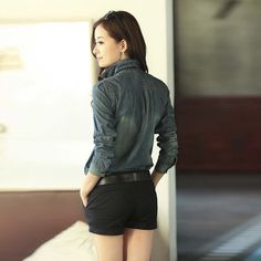 Buy 2015 Spring Autumn Fashion Women Slim Denim Blouse Jackets on bdtdc.com