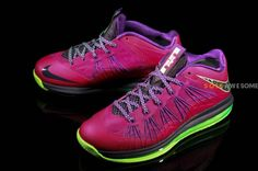Nike Air Max LeBron X Low - Purple/Electric Green | Sole Collector