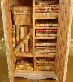 Miniature 1:12 French Inspired  fabric and textiles  haberdashery Armoire Cabinet on Etsy, $195.00