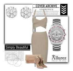 """""""Allurez #7"""" by ajsa-ajsic ❤ liked on Polyvore featuring Morris & David, Caravelle by Bulova, Allurez and Deux Lux"""