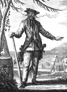 Blackbeard (whose real name was Edward Teach) was a fearsome pirate of both real-world history and legend, active in the 1700's. Although he has a reputation as a vicious criminal, reality shows Blackbeard to be a slightly less than bloodthirsty individual-however, he was a pirate and as such, would regularly commit crimes such as hijacking and looting.