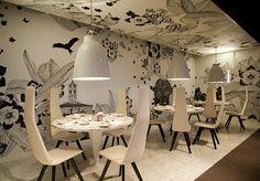Um ambiente todo decorado e enfeitado pelos desenhos. O que vocês acharam desse modo de decorar?