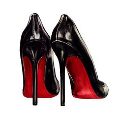 Christian Louboutin Shoes Watercolor by LadyGatsbyLuxePaper