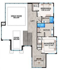 plan 86033bw: spacious, upscale contemporary with multiple second