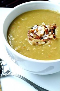 Vegetarian Split Pea Soup - but you can add bacon or ham if you really want to!!!
