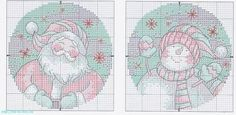 Santa and Snowmen Ornaments - #6