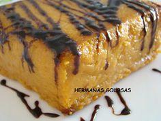 PASTEL DE BONIATO CON SALSA DE CHOCOLATE