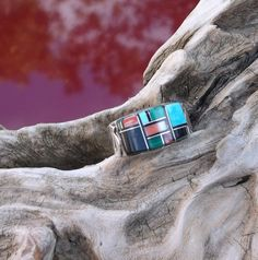 Men's Zuni Sterling Silver Ring  Unique Setting by AntiquesNXS