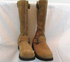 Rocket Dog Tan Suede Buckle Insulated Mid Calf Boots Size 8.5 #RocketDog #MidCalfBoots
