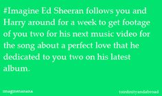 I love Ed Sheeran, and I'm in love with Harry Styles!