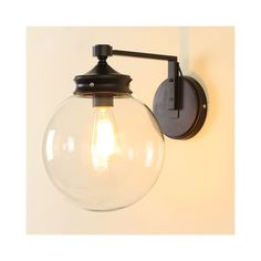 Wall Lights - Modern Wall Lights - American Country Minimalist Round Glass Wall Mirror Source by jul Industrial Sconce, Lights, Glass Vanity, Porch Lamp, Bathroom Sconce Lighting, Glass Wall Lights, Round Glass, Glass Wall, Mirror Wall