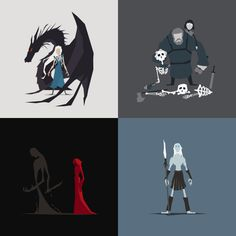 Game Of Thrones minimalist characters 02