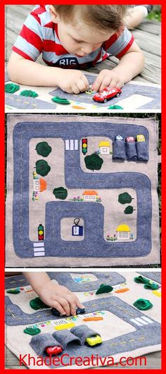 KhadeCreativa.com MonoNoAvares foldable felt mat delivers hours of on-the-floor fun — with minimal mess. #etsykids source by :http://pinterest.com/pin/459859811930235375/