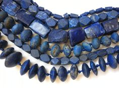 Natural lapis from Afghanistan. Looking forward to the show tomorrow!