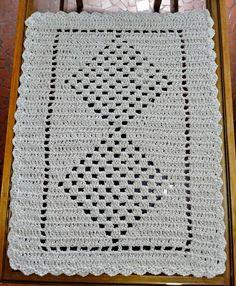 Handmade crochet rug with string . Crochet Flower Patterns, Baby Knitting Patterns, Crochet Flowers, Crochet Purses, Crochet Doilies, Filet Crochet, Crochet Stitches, Crochet Table Runner, Crochet Projects