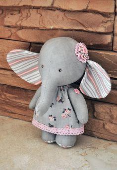 Textile elephant elephant ragtoy elephantElephant doll by Neonila1