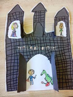 Ivan Cruz, Chateau Moyen Age, Crafts To Make, Crafts For Kids, Fairy Tale Crafts, Castle Crafts, Kids Castle, Dragon Birthday Parties, Roi Arthur