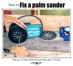 How to fix a palm sander (make it sticky again!) plus 5 must have tools you will love! via FunkyJunkInteriors.net