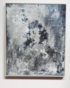 Abstract Art. Original Concrete Painting. Framed by Outlook8studio