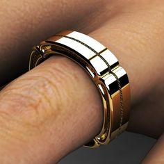 Custom Made Custom Gold Wedding Band by JewelSmiths, CustomMade.com