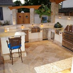 Outdoor Kitchen With A Big Green Egg Design Ideas, Pictures, Remodel, and Decor