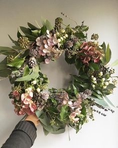 our first Christmas wreath of the year! Our order books are now open for all things festive, get in touch to order your… Christmas Door Wreaths, Christmas Flowers, Autumn Wreaths, Holiday Wreaths, Christmas Decorations, Dried Flower Wreaths, Wreaths And Garlands, Dried Flowers, Illustration Noel