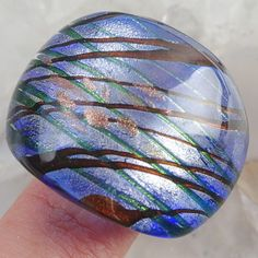 Dichroic Glass Lampwork Ring