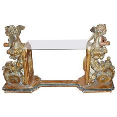 17th Century Italian Angel Console | From a unique collection of antique and modern console tables at http://www.1stdibs.com/furniture/tables/console-tables/