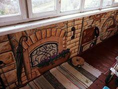 Декор поверхностей ручной работы. Ярмарка Мастеров - ручная работа. Купить роспись на балконе. Handmade. Балкон, декор балкона, велосипед