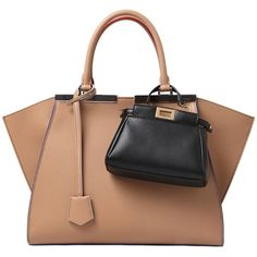 FENDI Micro Peekaboo Nappa Leather Bag - Magenta ($1,410) ❤ liked on Polyvore featuring bags, handbags, snap bags, fendi handbags, fendi bags, fendi and shoulder bags