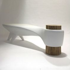 "thedesignwalker: "" The Akene Bench is stunning with futuristic-organic design that's structurally sound and visually pleasing. This piece has a removable base and it's UV-resistant for indoor and..."