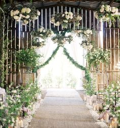 Wedding Decor: Hanging flowers, lanterns, chandeliers & lights | Wedding Party