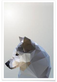 Geo Winter Fox als Premium Poster