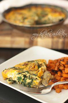 Spinach, Mushroom, and Pumpkin Frittata | my kitchen addiction