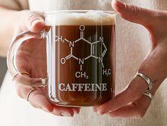Imagem de caffeine, coffee, and chemistry Coffee Is Life, I Love Coffee, My Coffee, Coffee Shop, Drink Coffee, Coffee Candy, Cute Coffee Cups, Coffee Bags, Cool Mugs