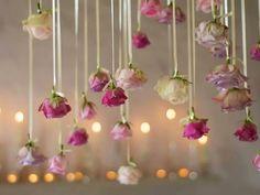 Wedding decorations romantic hanging flowers for 2019 Floral Wedding Decorations, Flower Decorations, Wedding Centerpieces, Wedding Flowers, Hanging Decorations, Wedding Stage, Diy Wedding, Dream Wedding, Wedding Reception