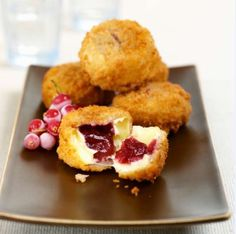 Recipe: Deep Fried Camembert with Cranberry Sauce
