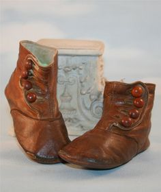 These bronzed baby shoes are very similar to a pair I have that belonged to my father-in-law, born in 1916.