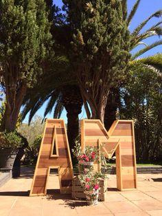 Letras gigantes!! #decoracion bodas #weddingdecoration