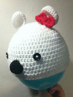 Sono felice di condividere l'ultimo arrivato nel mio negozio #etsy: Cappello orsetto bianco http://etsy.me/2jhlcFc