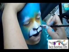 Tiger Face Painting Design Tutorial - Video