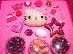 XL Bling Hello Kitty Set Decoden Kawaii to Bling by PixieKhloe, $22.98 :)