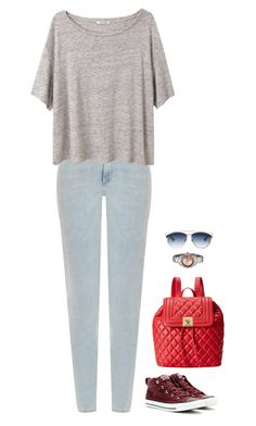 """""""#1649"""" by azaliyan ❤ liked on Polyvore featuring moda, Acne Studios, Converse, Love Moschino, Invicta y Christian Dior"""