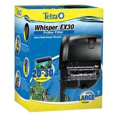 Tetra Whisper Power Filter - EX30 - ON SALE! http://www.saltwaterfish.com/product-tetra-whisper-power-filter-ex30
